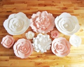 Set of 10 Flowers - Paper Flowers | Paper Flowers for Nursery | Paper Flower Backdrop | Paper Flower | Paper Flower Wall | Paper Flower Art