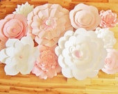 Set of 11 flowers - Paper Flowers | Paper Flowers for Nursery | Paper Flower Backdrop | Paper Flower | Paper Flower Wall | Paper Flower Art