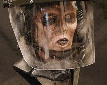 1:1 scale Walking Dead Riot Gear Zombie life size bust