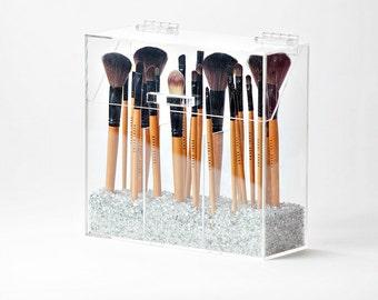 Elizabeth Makeup Brush Holder - Makeup Brush Organizer - Acrylic Makeup Organizer - Makeup Storage