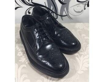 Men's wingtip shoes, Vintage loafers, Men's lace up shoes, Men's leather shoes, Slide on shoes, Rockabilly shoes, Hard sole shoes