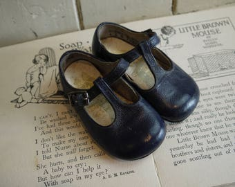 Vintage Pair of  Child's Shoes - Made in England