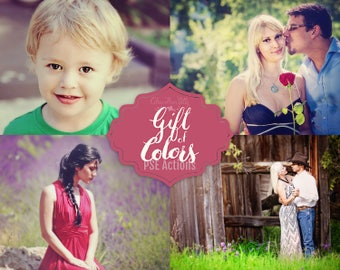 75% OFF! - Gift of Colors {39 Photoshop Actions for Elements 11, 12, 13, 14 and 15}