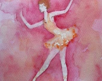 Ballet Dancer high quality art card from an original painting