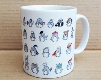 Pinguïn mok - kerstcadeau - Teacher's gift - House warming cadeau-Leaving heden-verjaardag cadeau-Quirky mok