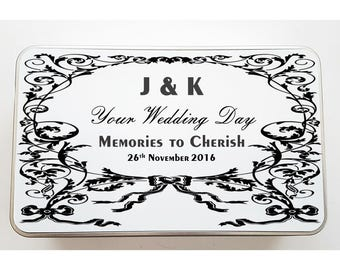 Your Wedding Day Personalised Tin