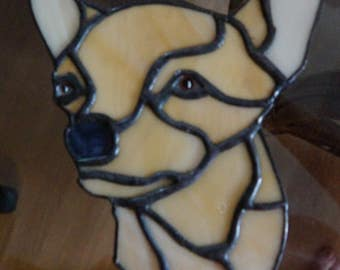 Stained Glass Chihuahua Suncatcher