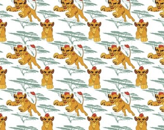 Disney Lion Guard Fabric Kion in Light Sage From Camelot 100% Cotton