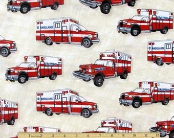 Ambulance Fabric Emergency Fabric From Clothworks 100% Cotton