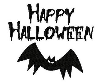 Embroidery Design Happy Halloween 4 - DIGITAL DOWNLOAD PRODUCT