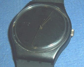 Scarce 1985 Swatch blackout watch