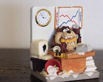 Taz Ceramic Cartoon Office Clock 3D Desk Art
