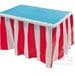 Carnival Party Decorations, Red & White Striped Table Skirt, Circus Party Decorations, Circus Themed Party, Carnival Theme, Birthday Party