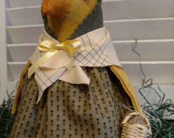 Bess, our well dressed primitive spring chick