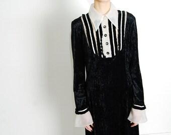 goth tux 90s velvet dress