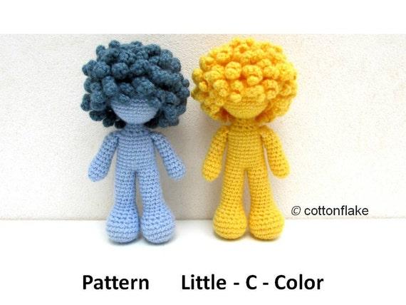 Pattern Little - C - Color , doll amigurumi crochet, curly ...