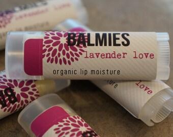 Balmies Lavender Love organic lip balm