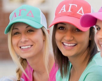 Greek Letter Baseball/Trucker Hat ~ Greek Letter Hat ~ Sorority Hat ~ big little gift