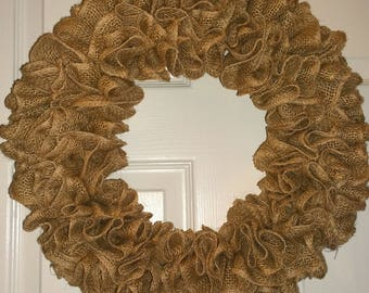 Decorate Your Own - Ruffled Burlap Wreath