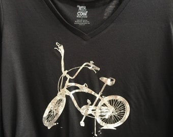 Bike Shirt, with foil, V-Neck by Kiss a Cow
