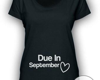 Due In September Fine Jersey Deep Scoop Neck Longer Length T‑Shirt