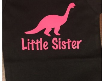 Dinosaur baby sister shirt little sister dinosaur clothing dinosaur baby girl one piece