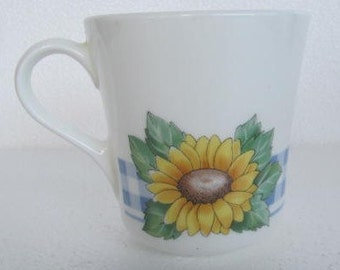Sunsations (Corelle) by Corning Sunflower Design Small Flat Cup