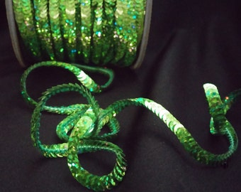 seagreen zodiac (hologram) sequin trim--stretch and non-stretch