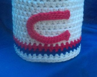 Crochet toilet paper cover,baseball,team