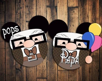 Custom Disney Cruise Mickey Magnets Carl Up inspired
