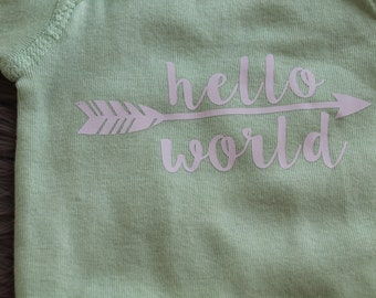 Light Green Newborn Onesie