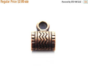 HALF PRICE 6 Copper Zigzag Bails - Large Hole Bail