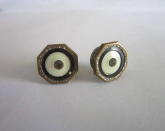 Antique Art Deco Mens Cuff stud Buttons