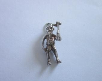 Vintage Sterling Silver Thanksgiving Pilgrim Charm Bracelet Charm