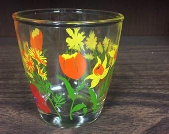 Vintage Hazel Atlas 'Spring Garden' Sour Cream Glass