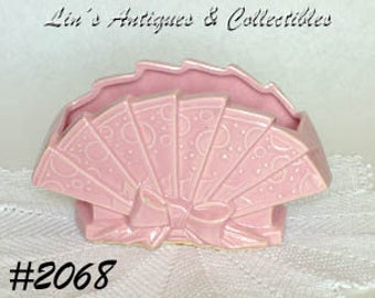 Vintage McCoy Pottery Pink Fan Shaped Planter (Inventory #2068)