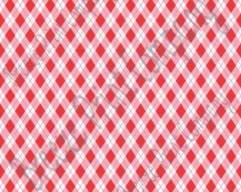 Red, pink and white argyle plaid craft  vinyl sheet - HTV or Adhesive Vinyl -  Valentine's Day HTV3804