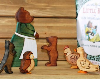 Little Bear and Friends Playset - Natural Eco Friendly Waldorf Toy