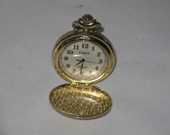 Vintage Timex pocket watch Japan movement needs new battery