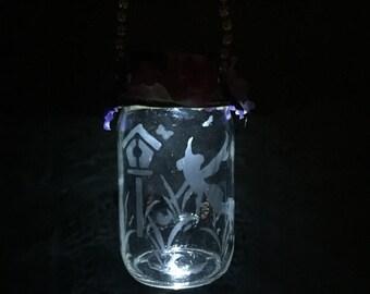 Fairy Garden Light - Hanging Solar Light - Outdoor Lighting - Garden Fairy Decor - Girls Room Decor - Birthday Gift - Solar Night Light