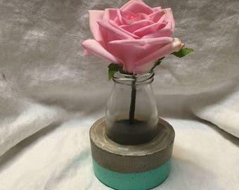Concrete glass vase, vase, concrete, cement, concrete decor, small vase, pencil holder