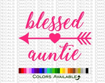 Blessed Auntie Decal
