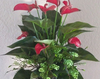 Anthurium table centerpiece