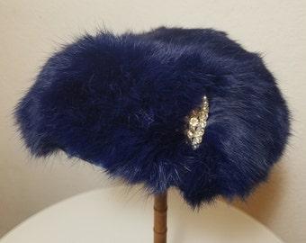 FREE  SHIPIING  1950 Rabbit Fur Hat