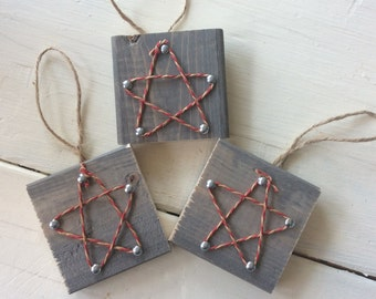 Wooden Christmas Ornaments with Star Free Shipping