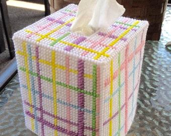 Baby Plaid Tissue Box Cover