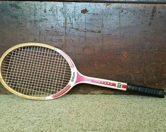 Wooden Tennis Racket Vintage Racquet Wilson 60s 70s