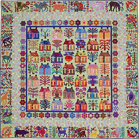 THE VILLAGE Pattern by Kim McLean - Appliqué