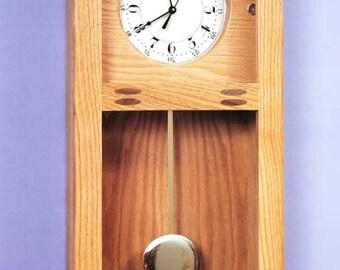Pendulum Wall Clock Woodworking Plans