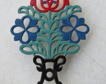 Vintage Colorful Metal Trivet